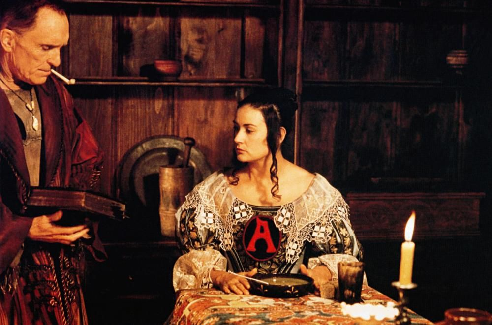 THE SCARLET LETTER from left Robert Duvall Demi Moore 1995