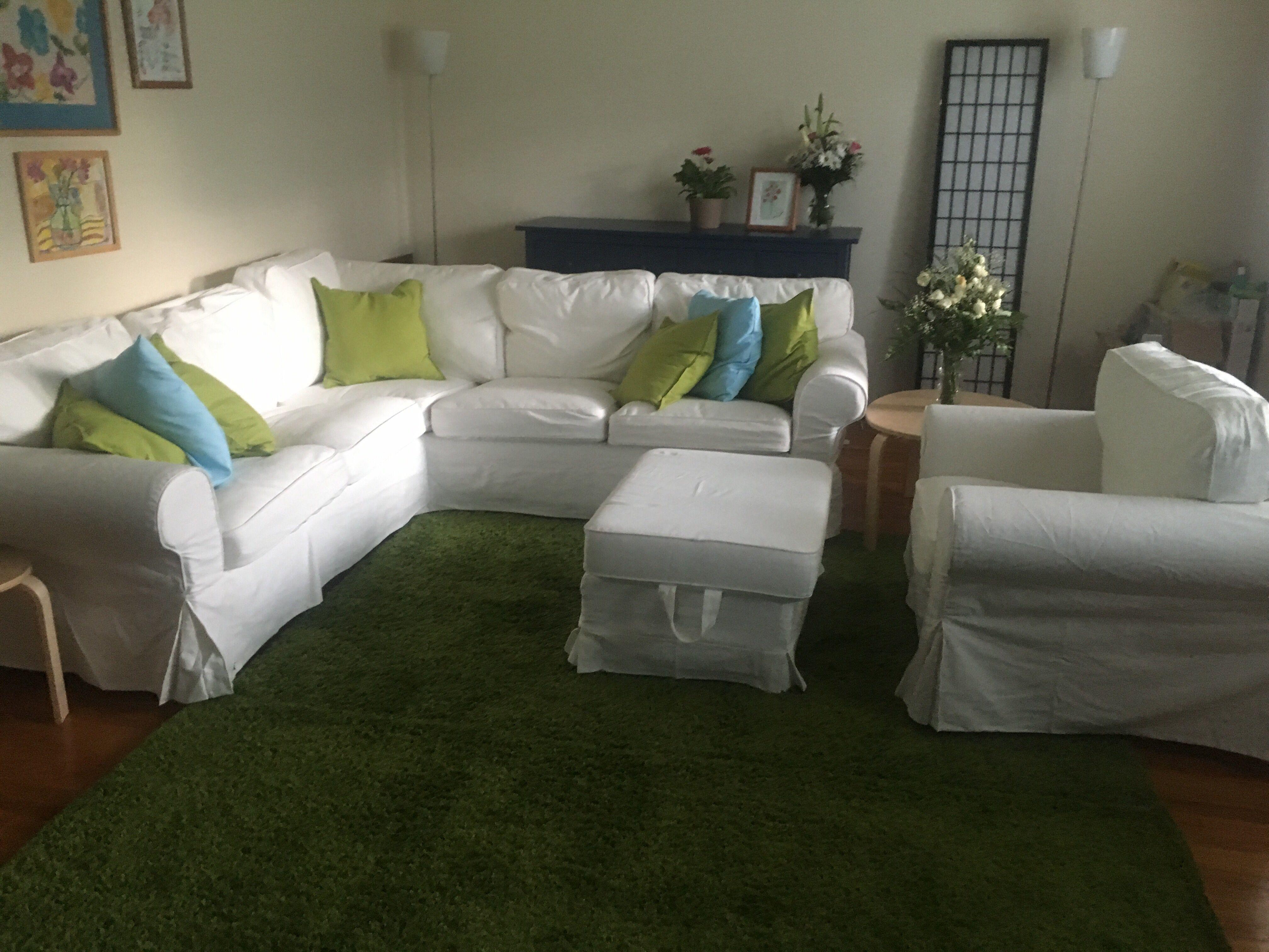 Ikea Ektorp 2 Sofa Green Rugs Blue Hemnes Dresser HemnesGreen RugsLiving Room