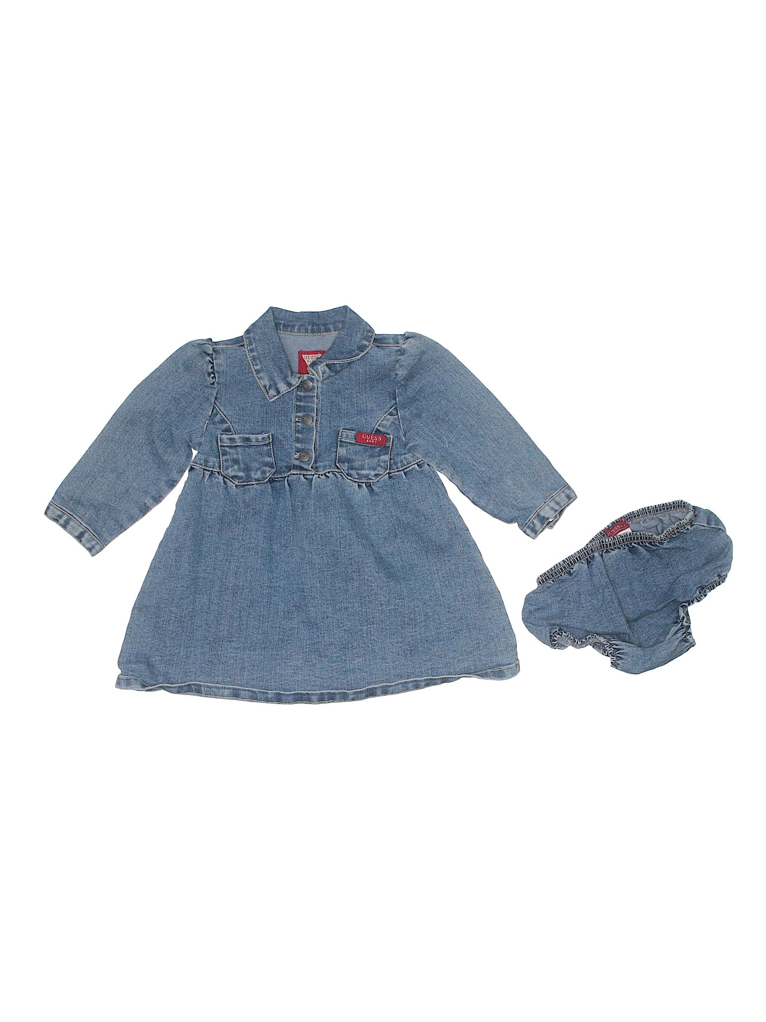 Guess Baby Dress Blue Girls Skirts & Dresses