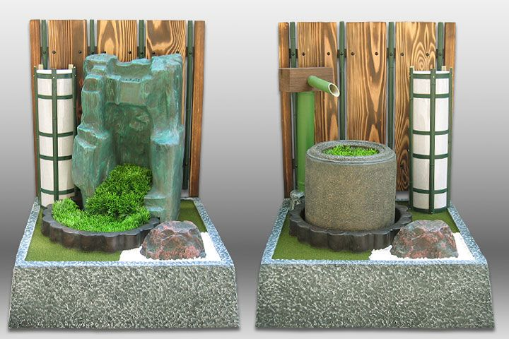 庭園などに和風の演出を加える素材です 石70種類 燈籠25種類 滝16種類 つくばい18種類 水車9種類 小さいものは15センチの石から 大きいものは255センチの滝まで取り揃えています 日本の代表的な型の燈籠 石 つくばいをモデルにしています
