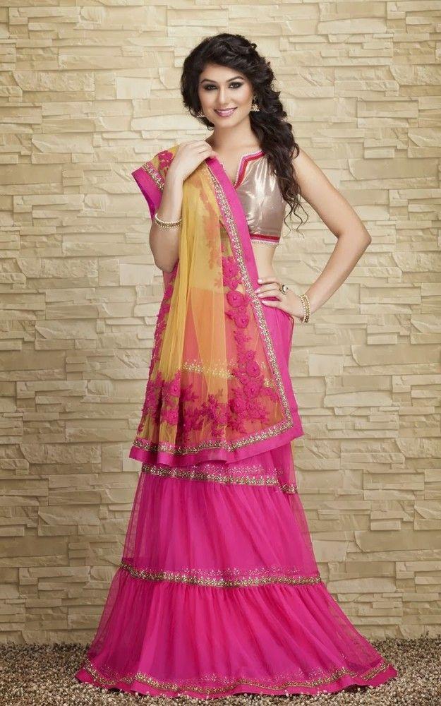 Pink and Yellow Blouse Sari | Indian & Fashion | Pinterest