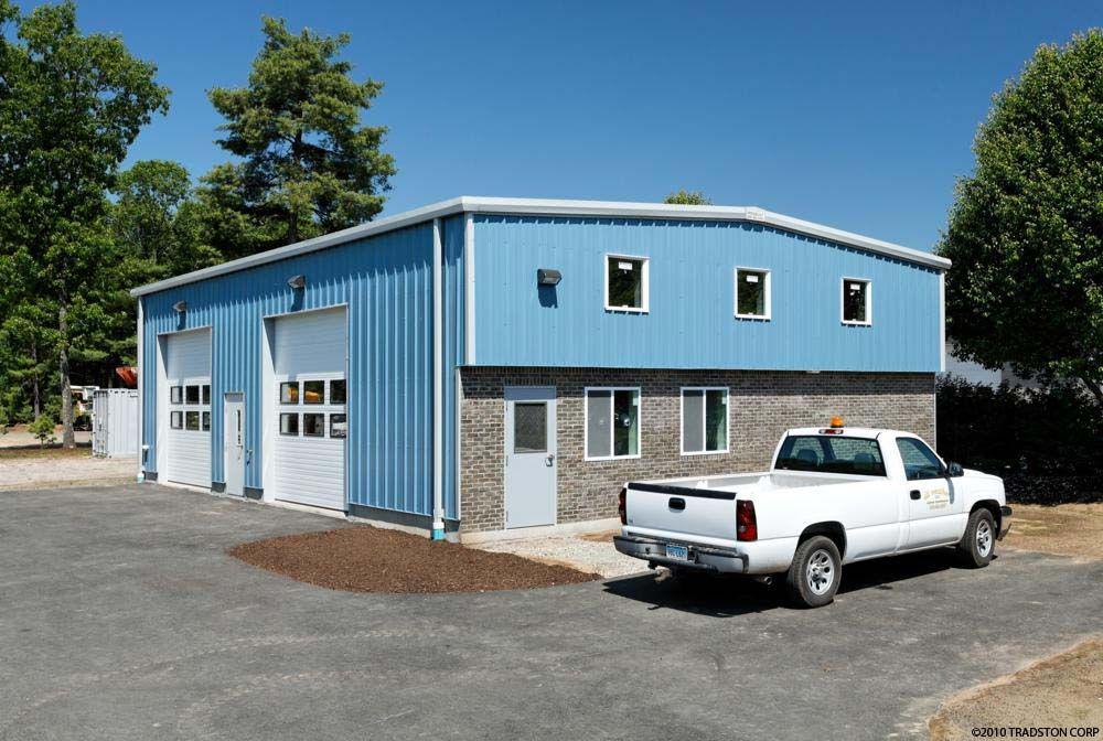 prefab metal garage with brick exterior Prefab garage