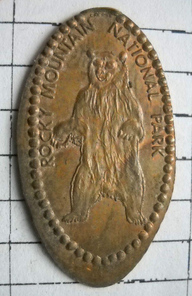 Rocky Mountain National Park elongated penny Colorado USA cent souvenir BEAR