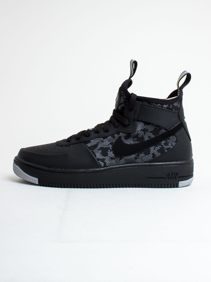 Nike Air Force 1 Ultraforce Leather Black Sneakers For Men
