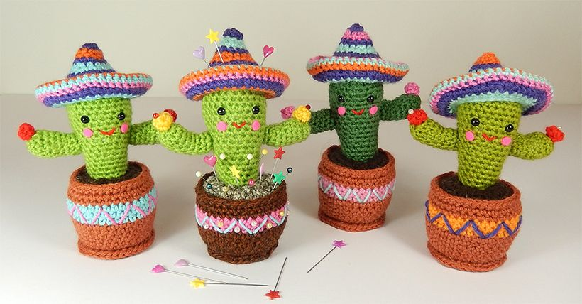 Amigurumi Cactus lol I would so do this seeing as I kill every ... | 428x820