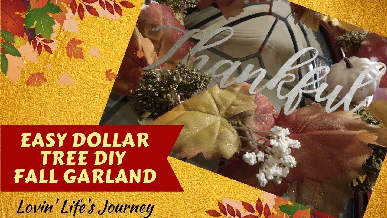 Easy Dollar Tree DIY Thanksgiving Wreath Fall Decor