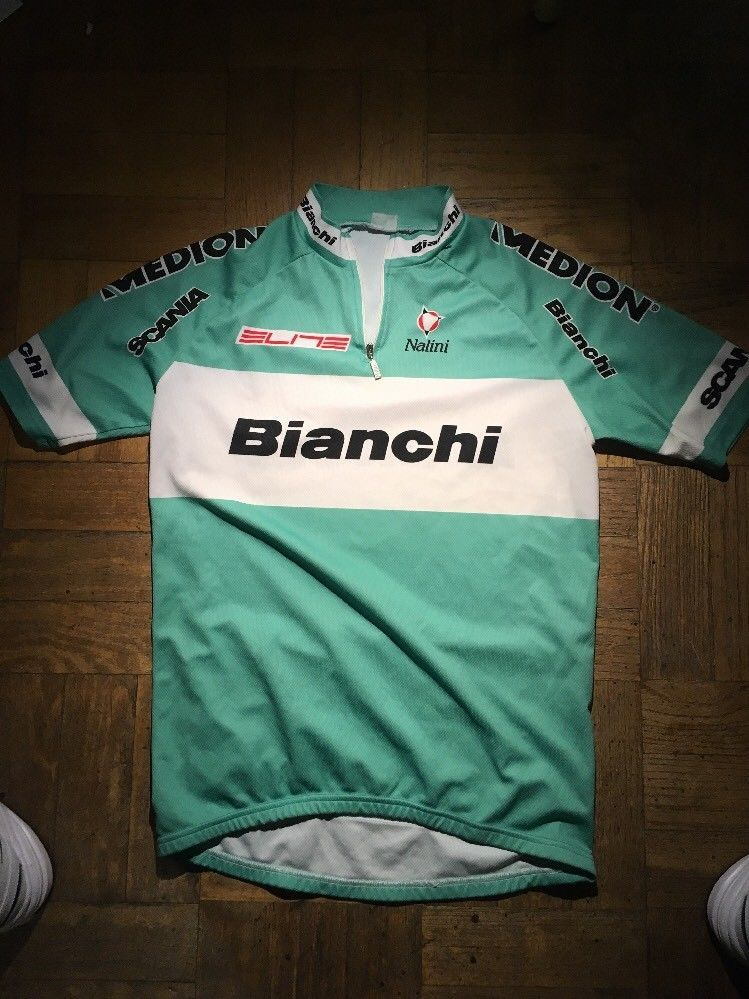 Vintage Nalini Bianchi Cycling Jersey Mens L Ebay Bike Jersey Design Cycling Jersey Jersey Design