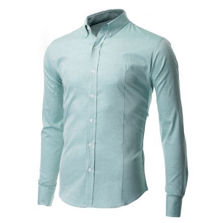 Mens Slim Fit Oxford Button Down Casual Shirt Long Sleeve (SH611)
