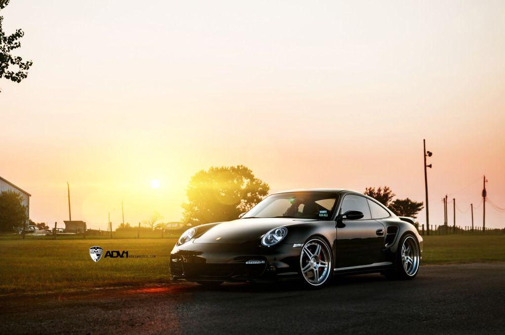 Adv 1 Evs Pcar 1 Black Porsche Porsche 997 Turbo Car Wallpapers