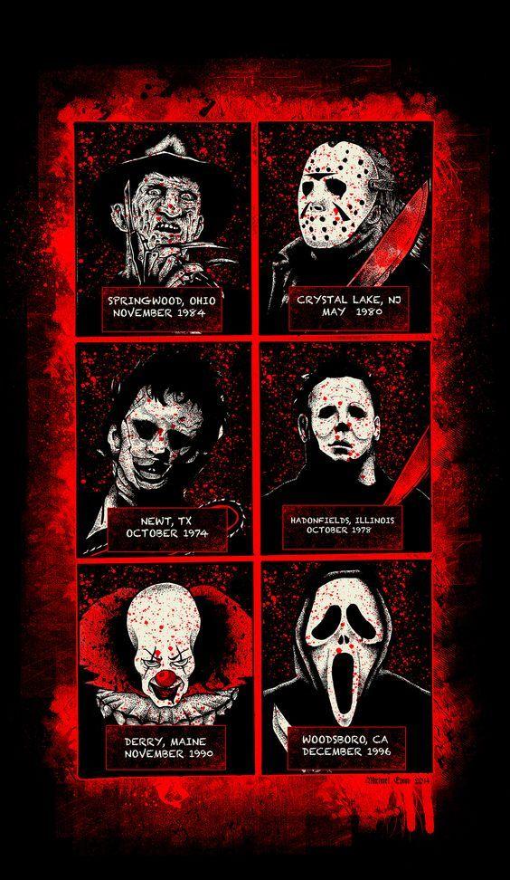 Horror slashers | Hot for Horror | Horror movie characters