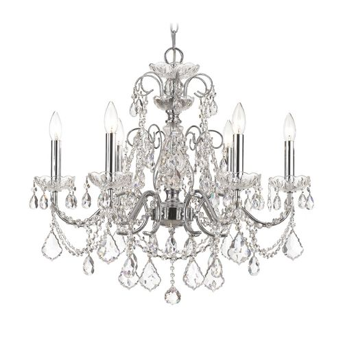 Crystorama Lighting Crystal Chandelier in Polished Chrome Finish | 3226-CH-CL-MWP | Destination Lighting