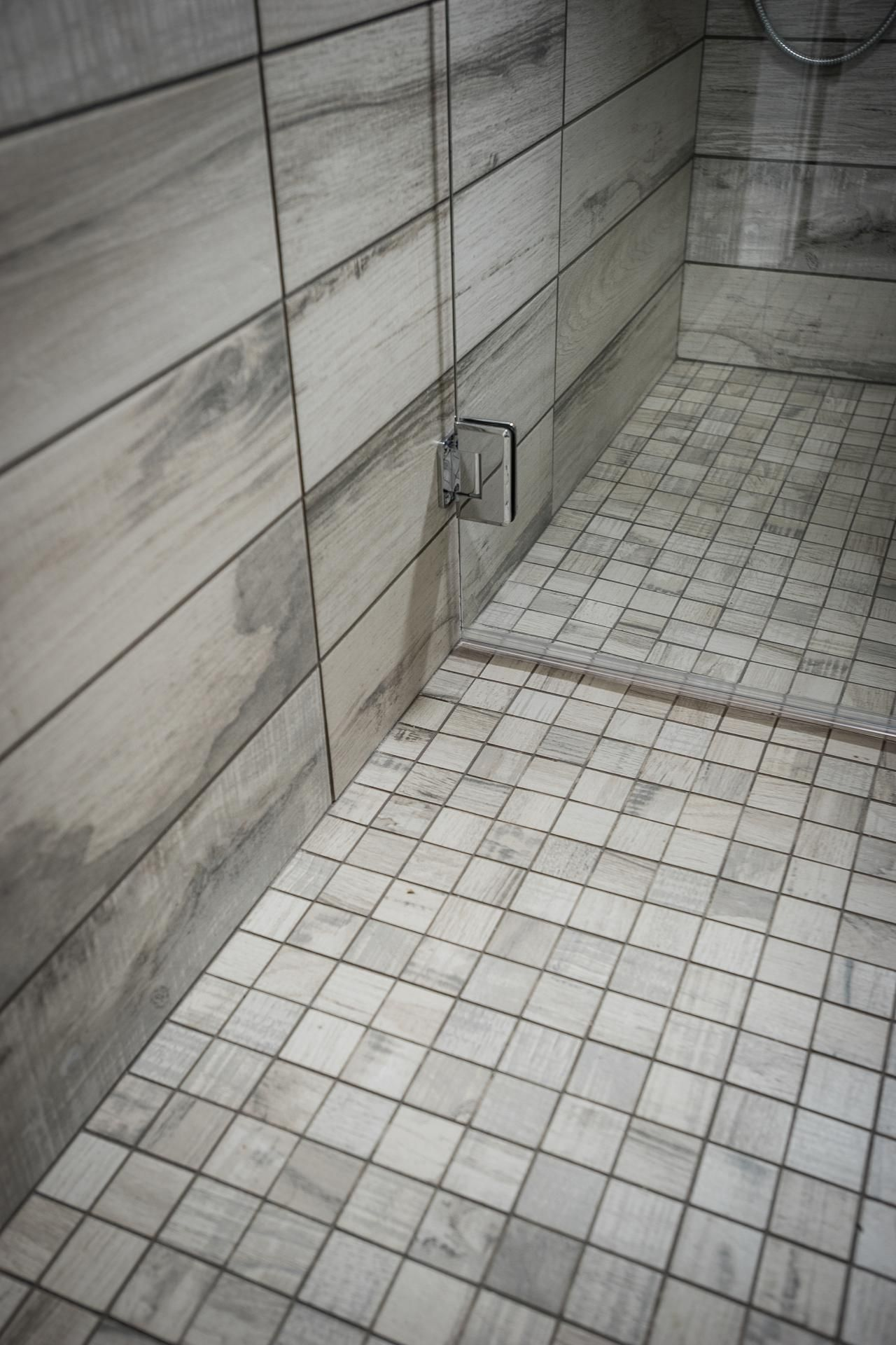 Faux wood tiles - Meant To Imitate Reclaimed Oak, Porcelain Tiles Display The Rugged