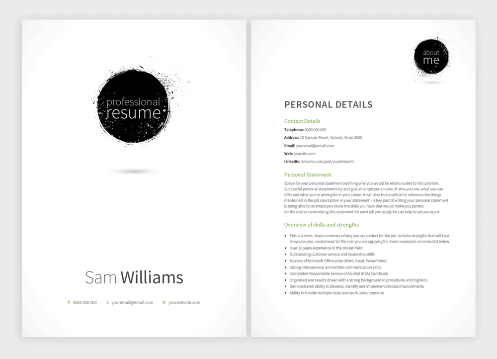 New Resume Templates With Matching Cover Letters Pure Professional