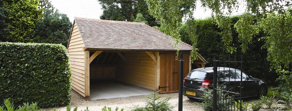One Bay Oak Framed Garage Kit! Self build DIY garages from