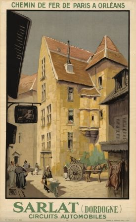 Cahors Bridge South-Western Wine City France French Vintage Poster Repo FREE SH