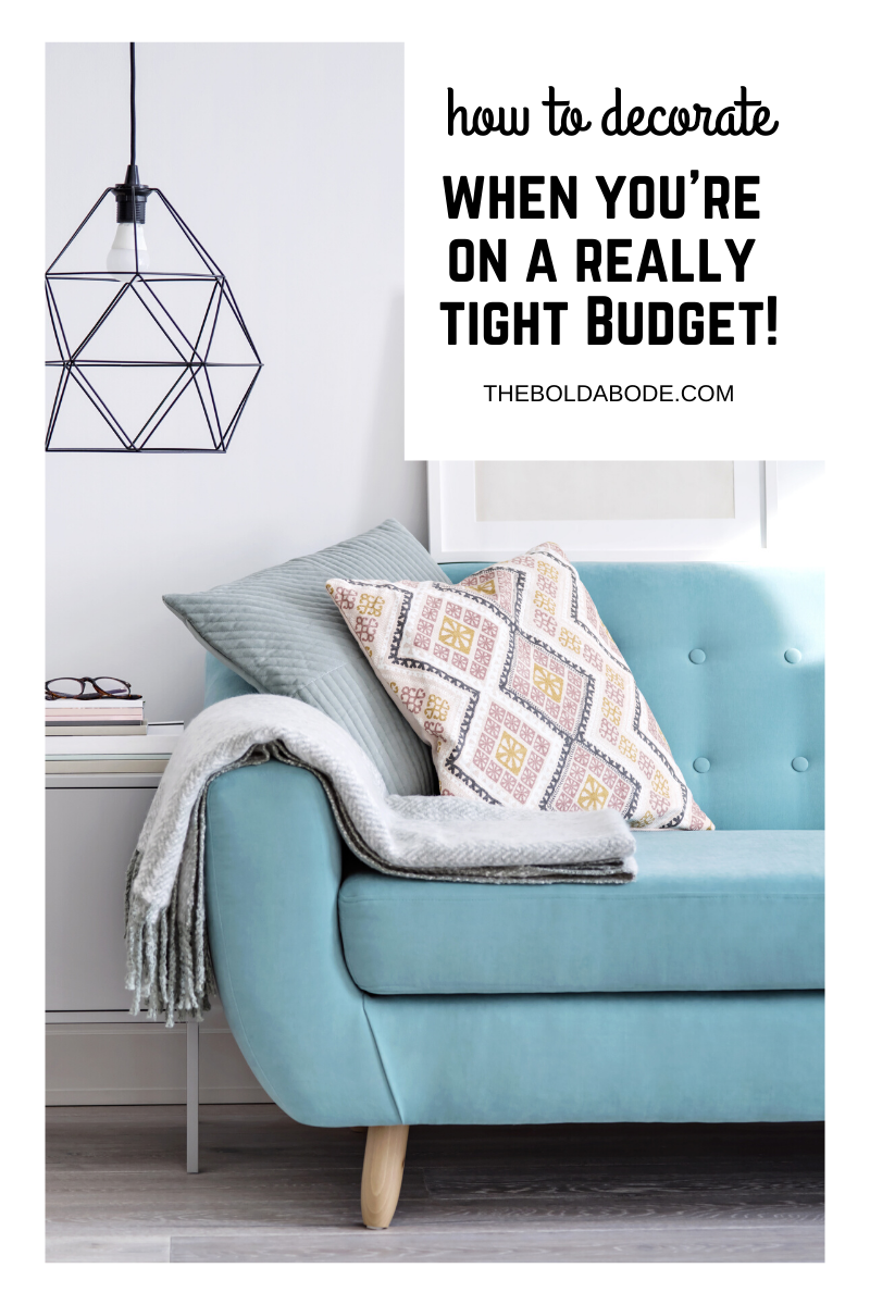 If you have a really tight budget, you might feel like you can't decorate and make your home unique and stylish. But that is not true! You can and in this post I will show you some ideas to get you started. #BudgetDecorating #DIY #HomeDecor #DecoratingonaBudget #CreativeDecorating #CheapDecor #CheapDecorating #decoratingideasforthehome #decoratingideasforthehomediy