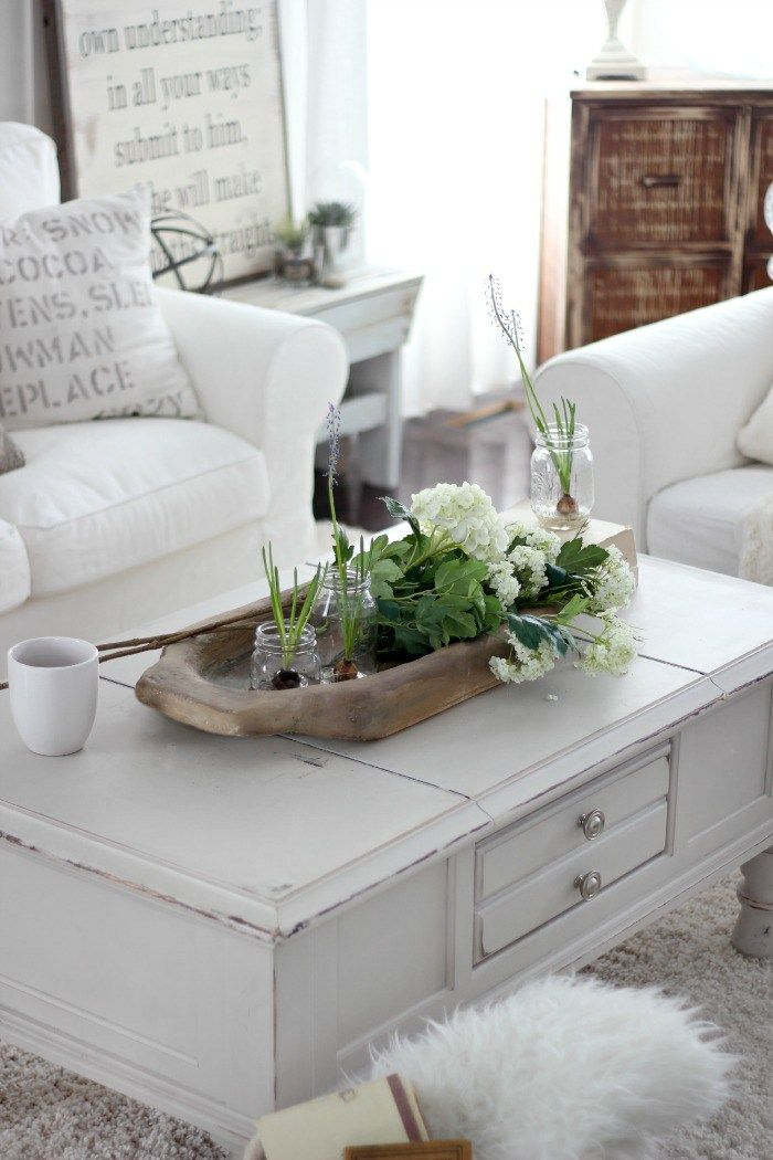 Restyle And Refresh For 2017 7 Great Living Room Design Ideas Table Decor Living Room Dough Bowl Wooden Dough Bowl Decorative bowls for living room