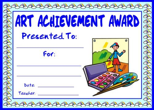 Art and Music Award Certificates Elementary schools, Certificate - free customizable printable certificates of achievement