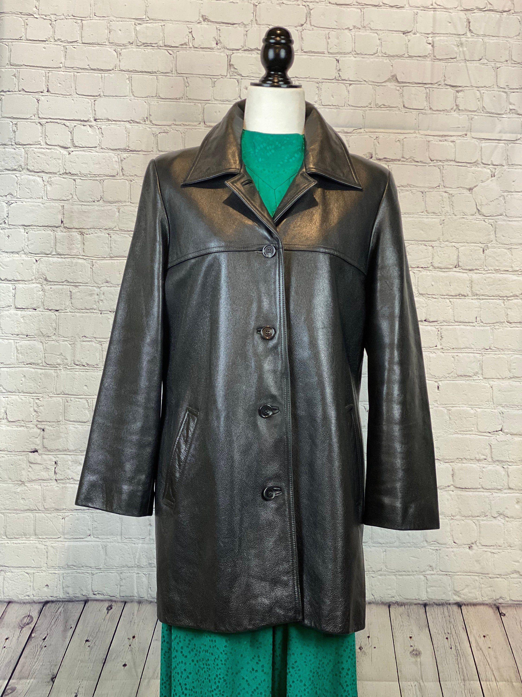 ON SALE! Women's Vintage Danier Leather Coat / Medium / 8