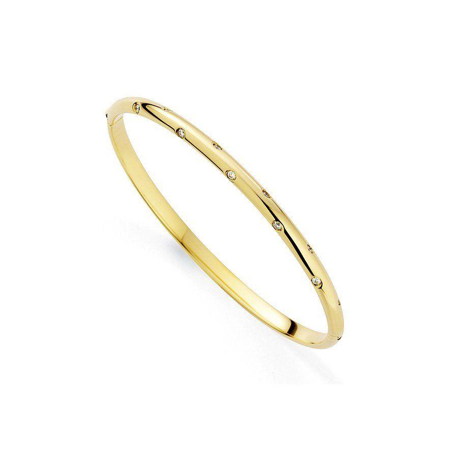 Galaxy 18ct Gold Bangle With Diamonds | Gold bangles, Bangle and ...