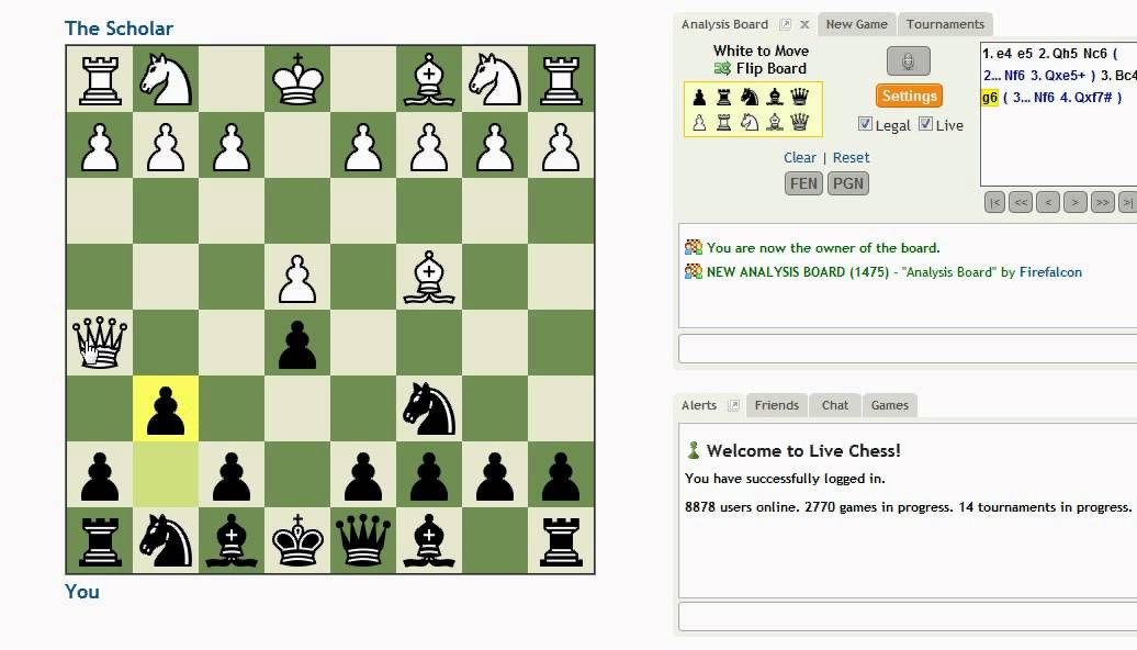 how to defend against the four move checkmate scholar s mate