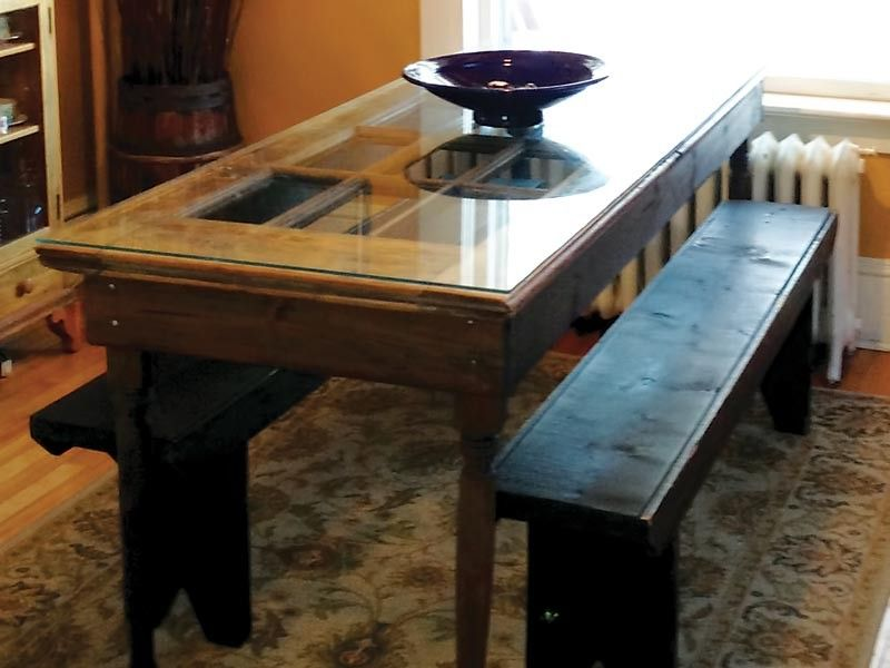 Dining Room Table Made From An Old Door I Like The Look