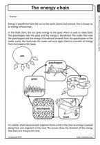 Energy Chain (Grade 4) | Energy and change | Pinterest | Science and ...