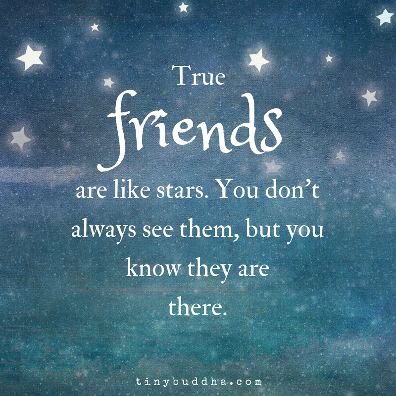 Sad I Miss You Quotes For Friends: True Friends Are Like Stars