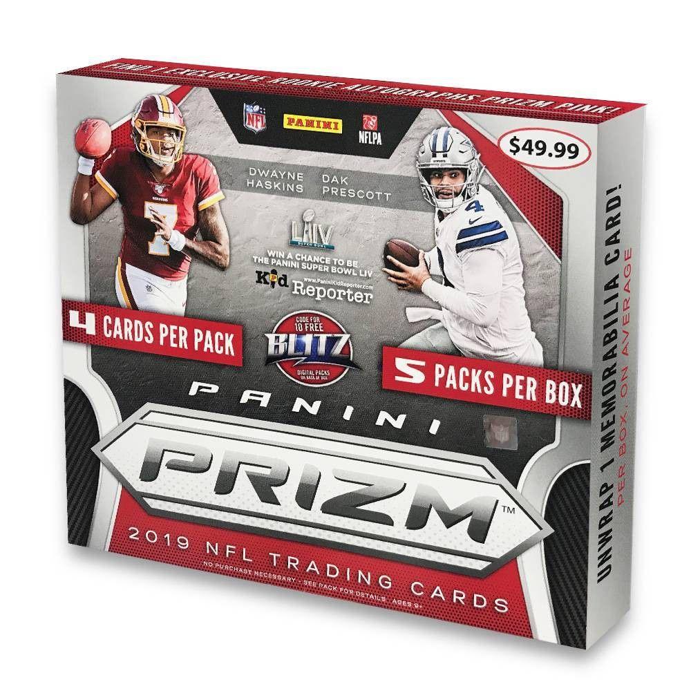 2019 nfl prizm football trading card mega box football