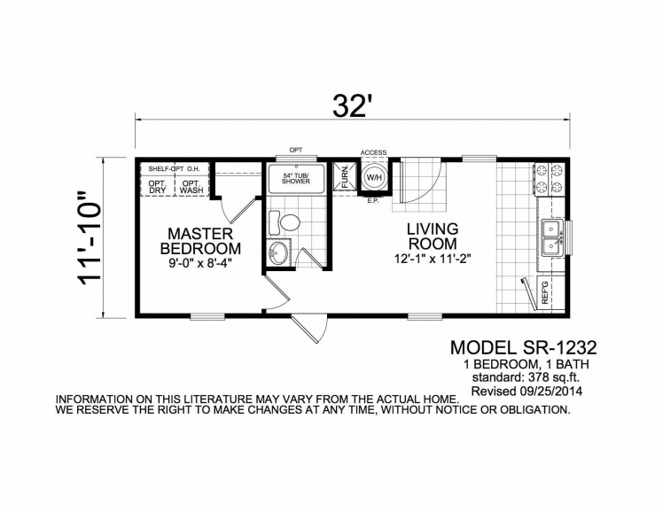 Micro Mobile Home Floor Plans Small House Floor Plans 1 Bedroom House Plans