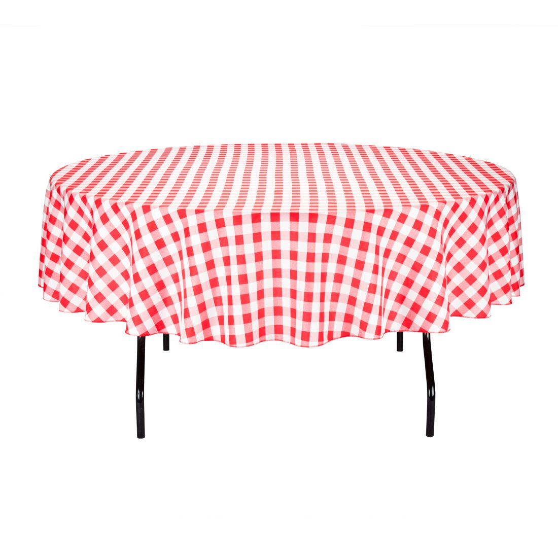 Round Tablecloth Red U0026 White Checkered