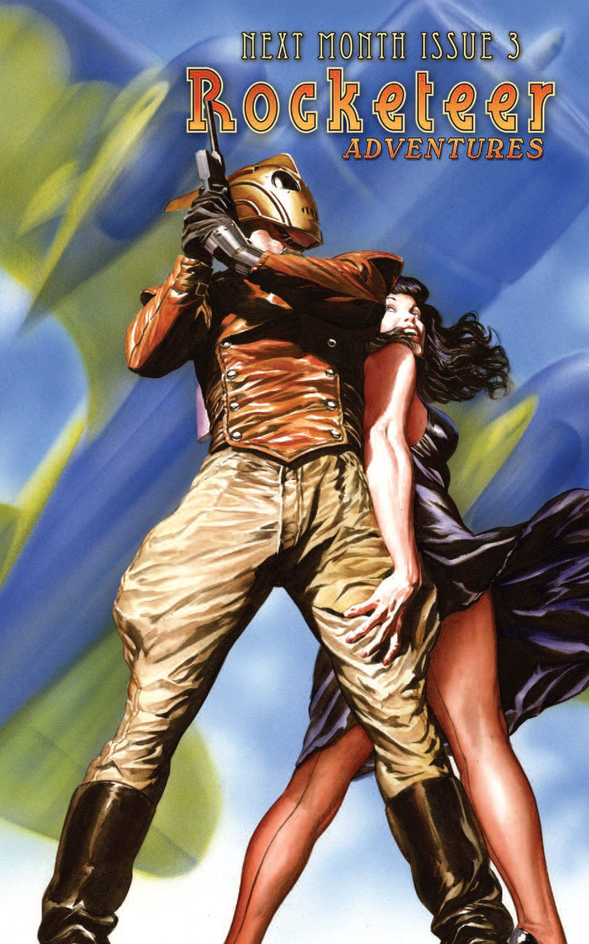 Preview of the cover of _Rocketeer Adventures_ #3 | 1,907 × 3,056 | Art by Alex Ross
