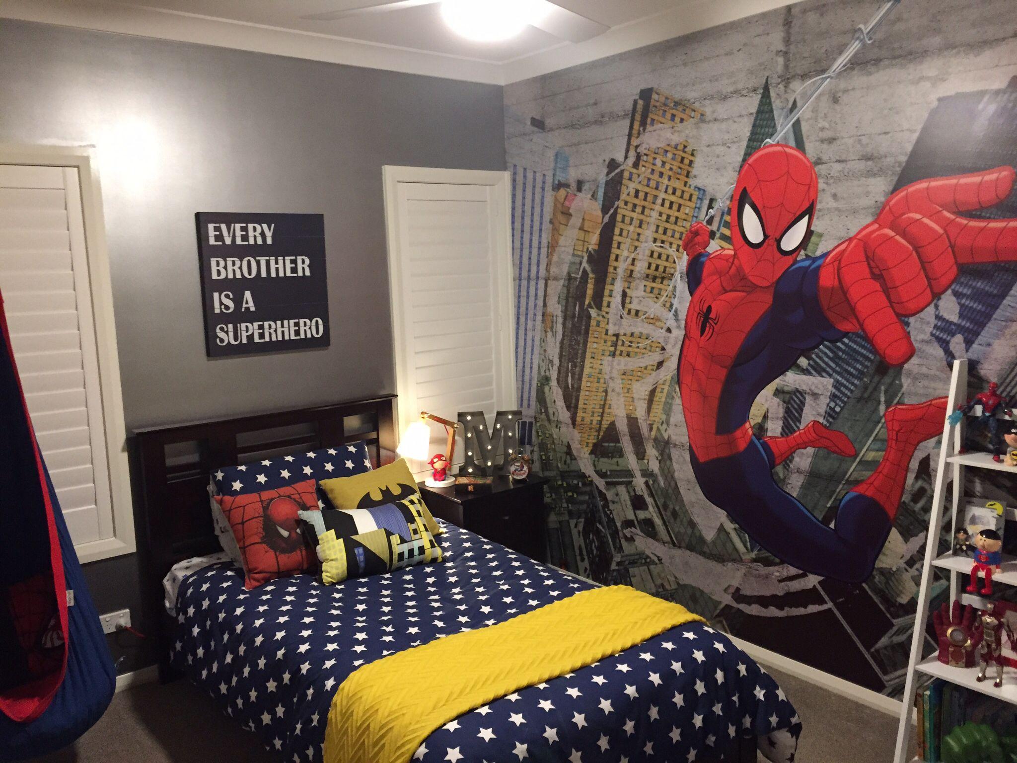 40+ Superheroes wallpaper for bedroom info