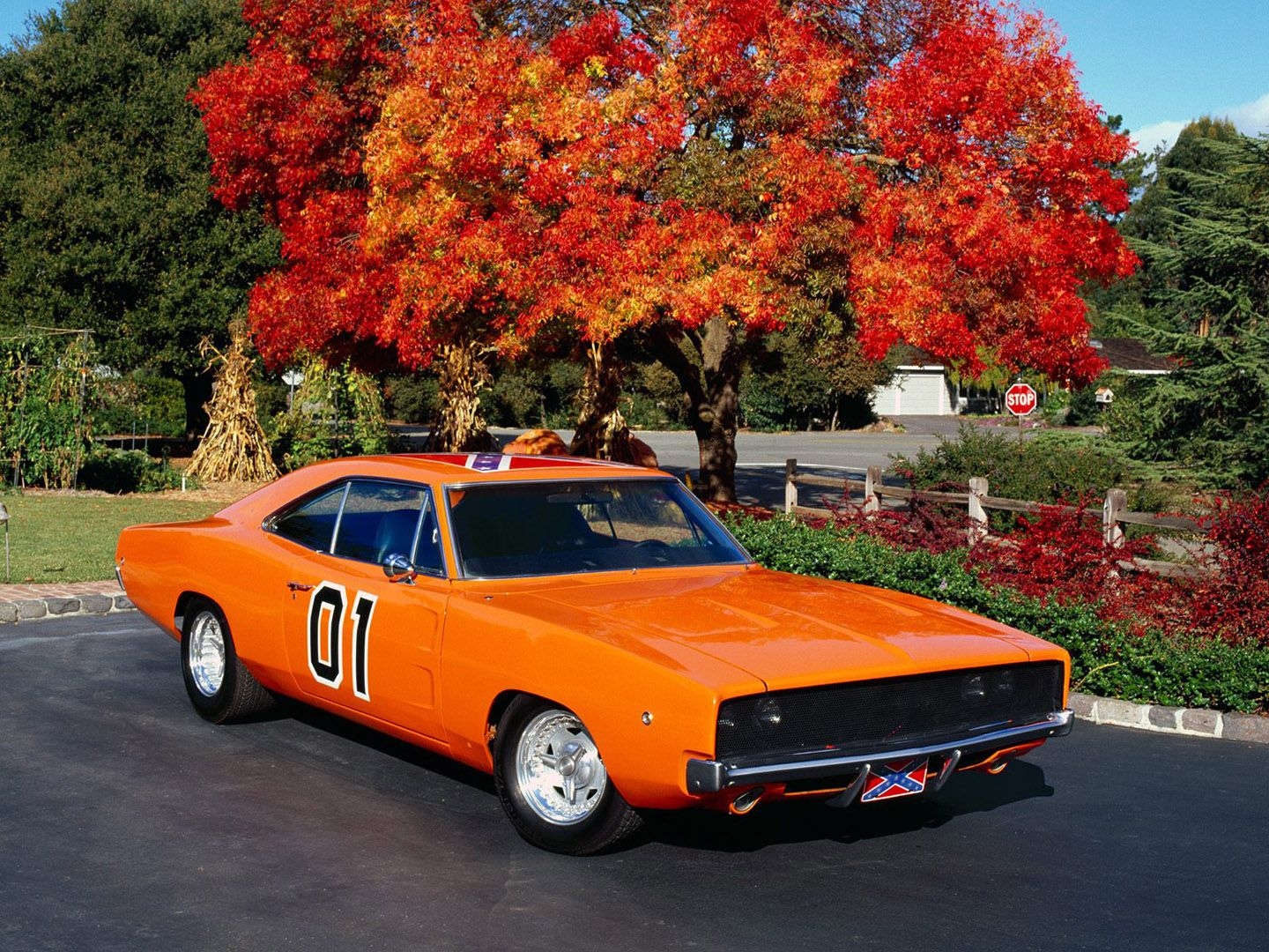General Lee Autumn Dodge Chargers Gran Torino Auto Coches Clasicos