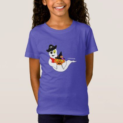 #Little Jack & Boo Girl's PURPLE HALLOWEEN T-Shirt - #Halloween happy halloween #festival #party #holiday
