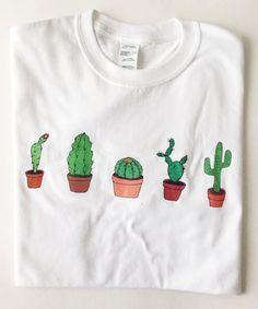 Cactus T-Shirt   Illustrated Unisex Tee Shirt Men s Women s Gift ... 69d6508b503