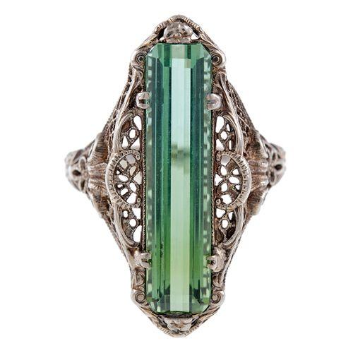 Tourmaline Ring, 1880  1stdibs.com
