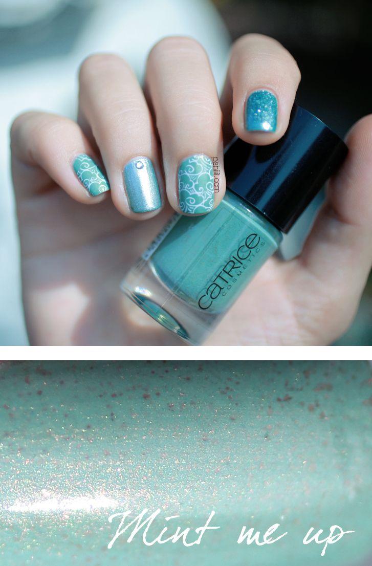 Ton sur ton de menthe art nails deborah lippmann and fashion art