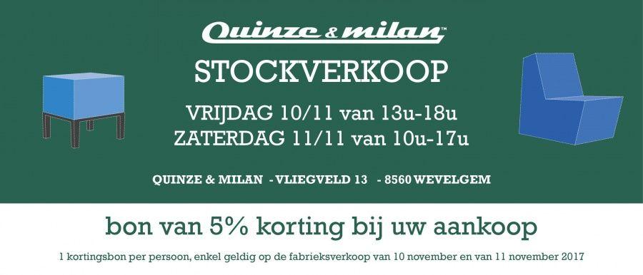Stocksale Quinze & Milan -- Wevelgem -- 10/11-11/11 | België