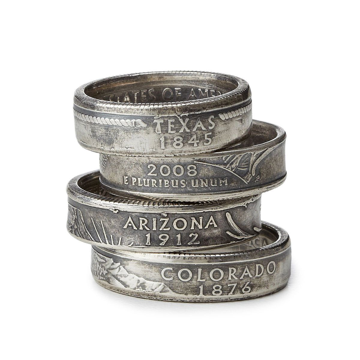 State Quarter Ring | coin jewelry, copper, nickel | Jewelry