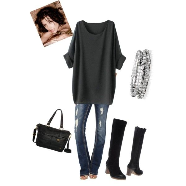 Cool and comfortable by vida96 on Polyvore featuring Seven7 Jeans, Manas, The Sak and White House Black Market