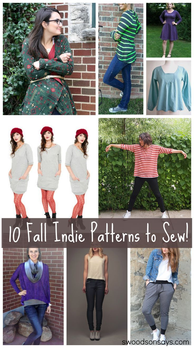 10 Indie Patterns to Sew for Yourself this Fall | Indie, Sewing ...