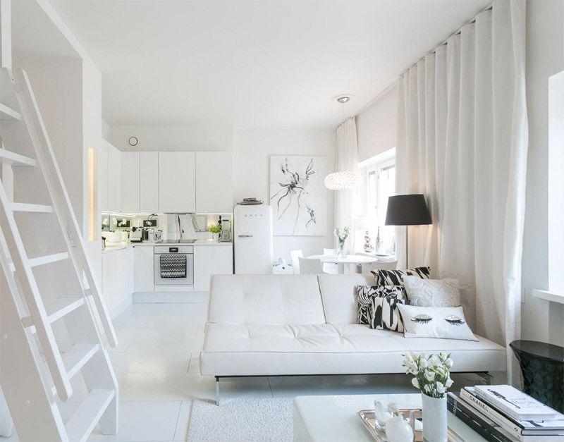 decoracion interior blanco | Loft pisos pequeños | Pinterest ...