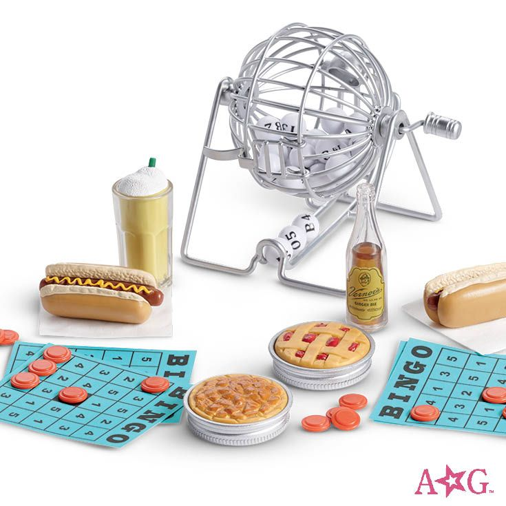 American girl doll bingo and food  night