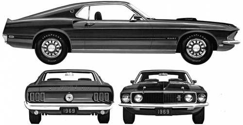 1969 Mustang Ford Mustang Mustang Blueprints