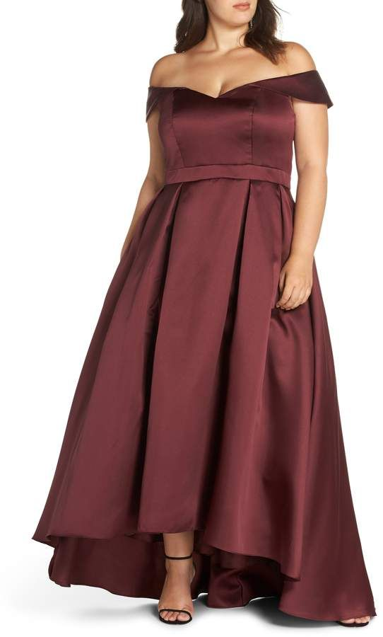 46fbcb46 Xscape Evenings Off the Shoulder Mikado High/Low Gown | Products in ...