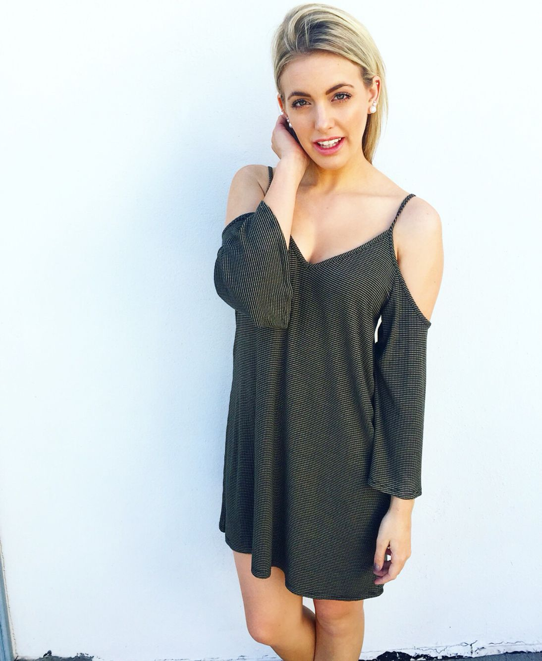TENNESSEE STRIPED MINI // great simple dress with cut outs in the shoulder to add an edge xx Shop this look now on Effinshop.com
