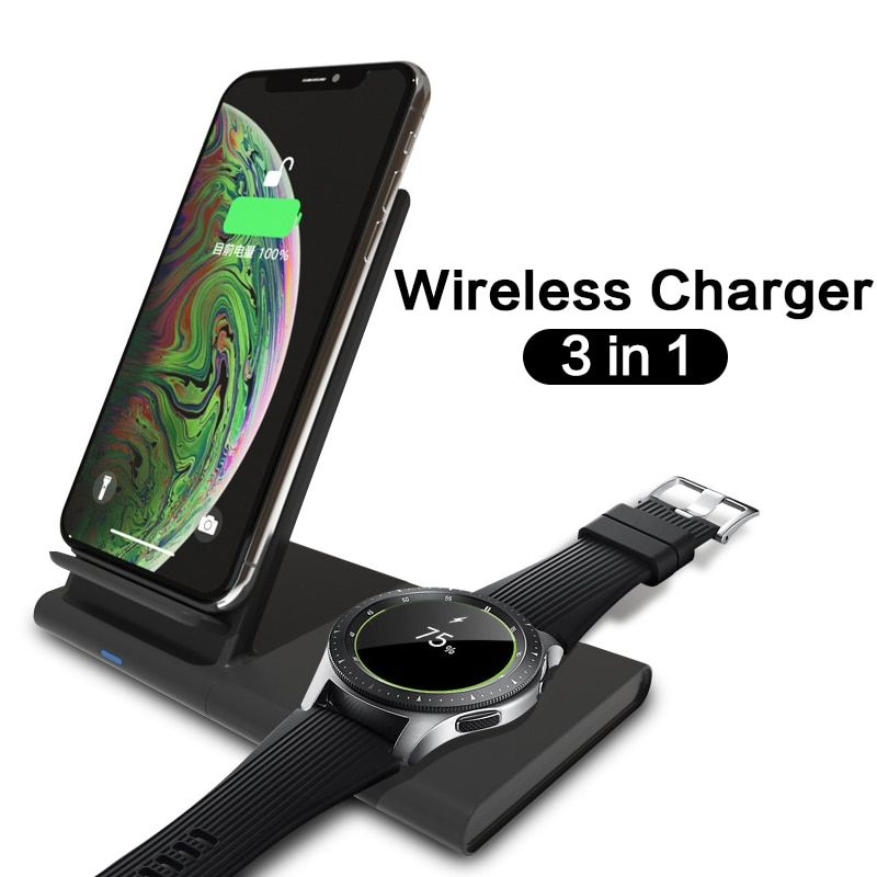 3 IN 1 Fast Wireless Charging Pad For Samsung Galaxy Watch