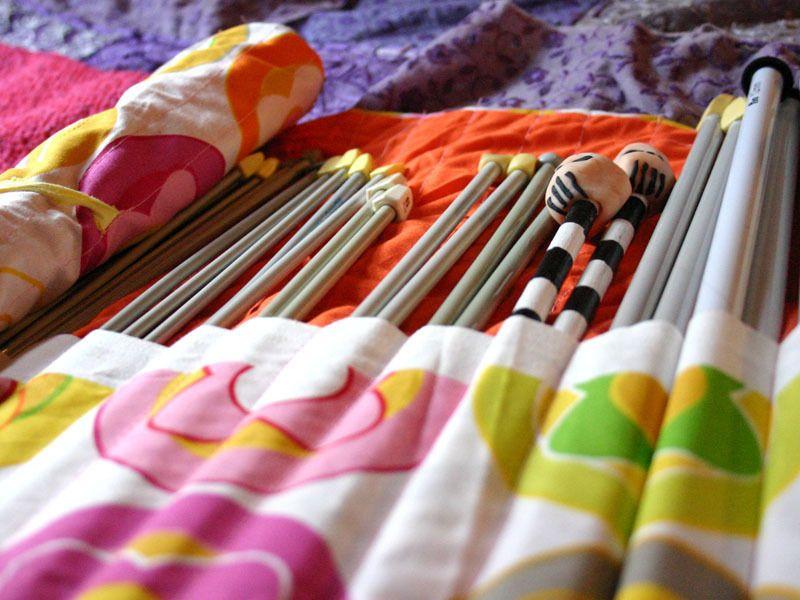 Knitting Needle Roll Up Pinterest Scissors Crafty And Tutorials