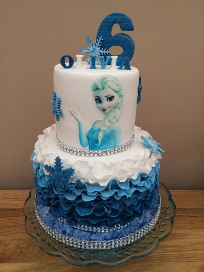 Frozen 2 Tier Cake Cake By Heatherasling With Images 2 Tier